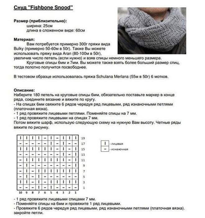 Вязание хомута шарфа шарф снуд схема вязания 38
